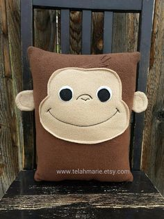 Curious George, pillow, plush, cushion, throw pillow, decor