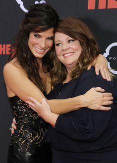 Melissa McCarthy and Sandra Bullock