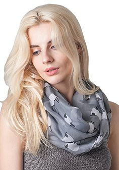 MissShorthair Women's Fashion Soft Light Cartoon Sheep Sheer Infinity Scarf (Gray). GREAT MEASUREMENT:Oversized approximately in 71inches*35inches(180CM*90CM). Both Large loop circle and extra long scarf are available. The fashion scarves are large enough to be worn as scarf around your neck and head,shawl warps your shoulder and any accessories to your outfits and handbag. CUTE SHEEP PATTERN IN VIBRANT COLORS: These sheer scarves are with cute sheep pattern and many vibrant colors.The sheep…