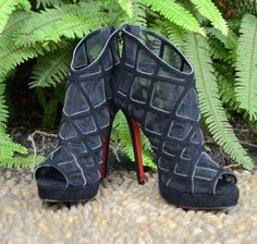 78.00$  Watch here - http://alis5u.worldwells.pw/go.php?t=32406815079 - BC Women Fashion Black Mesh shoes suede bootie with mesh lining Plus size 5-14, Wedding&Party 78.00$