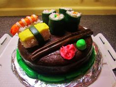 The Messy Kitchen: SUSHI CAKE