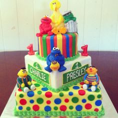 Sesame street themed first birthday cake! | Babies