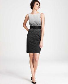 Gradient Dot Sheath Dress