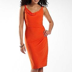jcpenney American Living Cowl Neck Dress- love the color