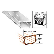 """CRL Clear Anodized Low-Profile 5/16"""" (7.9 mm) Wide Dual Seal Aluminum Spacer"""