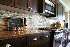 Love this glass back splash for the kitchen [ BruceChampionRealEstate.com ] #kitchen #RealEstate #Premier