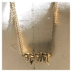 Tooth necklace @Lindsey Burk I'm pretty sure you need this!!!