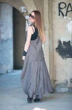 NEW Asymmetryc Cold Wool Vest / Sleeveless Woman Waistcoat / Extravagant Trench by EUGfashion