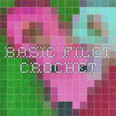 Basic Filet crochet how to read chart
