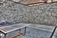 After - 2015 Walls all lime mortar pointed, BBQ area prepared. Al fresco dining area being prepared.