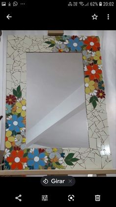 Mirror Mosaic, Mosaic Art, Mosaic Tiles, Mosaic Crafts, Mosaic Projects, Maya, Mirrors, Abstract Art, Pottery