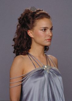 Padme's nightgown with beaded Art Nouveau style sleeves