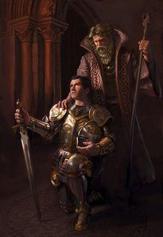 Merlin's Blessing - Aaron Miller Illustration