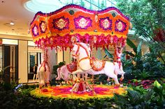 Wynn Las Vegas floral carousel.