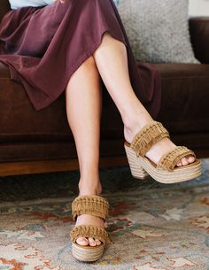 Tory Burch leather fringe espadrille platforms #spring #shoes