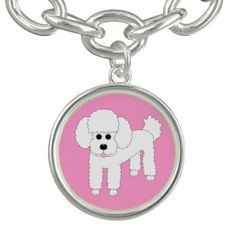 Poodle Dog Art Charm Bracelet $24.95 #poodle #dogart #poodlecharm #charmbracelet