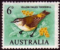 Australia 1964 SG 363 Birds Golden Whistler Fine Mint Scott 367 Other Australian Stamps HERE