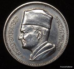 Maroc Morocco 1 dirham Argent Silver Mohamed V 1960, 13€ + 4€