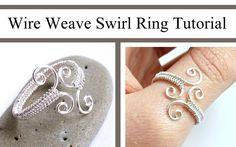 nice DIY Bijoux - Jewelry Video Tutorial: Adjustable Swirl Wire Wrapped Ring by Jocelyn D. on yout...
