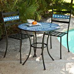 Coral Coast Marina Mosaic Bistro Set - Patio Dining Sets at Hayneedle