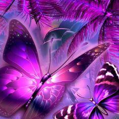Fantasy art - Page 34 - Butterflies - Galleries Butterfly Background, Purple Butterfly, Butterfly Art, Art Background, Purple Sky, Purple Wallpaper, Butterfly Wallpaper, Animal Wallpaper, Wallpaper Backgrounds