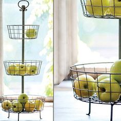 Distressed Three Tier Basket Display Stand