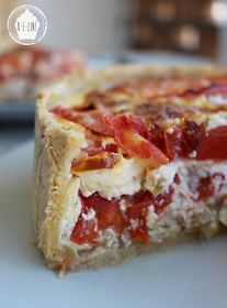 Q-e-zine: Tuna tart, tomatoes and Saint-Môret - shrimp Shrimp Fritters, Vegetable Pie, Cooking Recipes, Healthy Recipes, Food Inspiration, Entrees, Delish, Brunch, Food And Drink