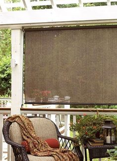 Outdoor Shades For Patio Exterior Sun Block Porch Deck Roll Up Wood Bamboo  72x72 #Radiance