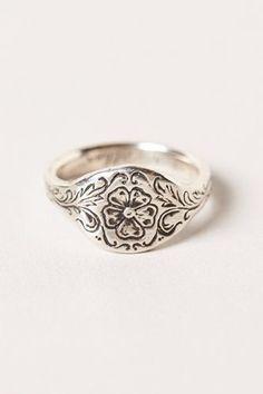 poesy ring, anthropologie. #SterlingSilverRings