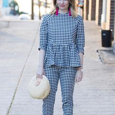 Head over to the blog to check out this @victoriabeckham for @target @targetstyle gingham outfit that I wore last night to the last Grizzlies game of the regular season! 💋💋 http://liketk.it/2r1cq #liketkit @liketoknow.it #LTKUnder50 #vbxtarget