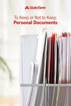 It's hard to know when to shred or save personal documents. Check out these guidelines for knowing what to keep, how long to save things, as well as different ways to store items safely — digitally or otherwise. Organizing Important Papers, Organizing Paperwork, Clutter Organization, Household Organization, Home Office Organization, Medan, Family Emergency Binder, Planners, Important Documents