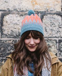 Pom-Hat-Icelandic-Caspian&Inferno | hilarygrant.co.uk