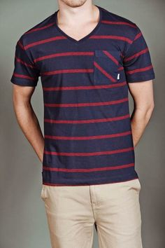 Navy and Red Stripes