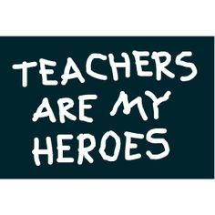 Teachers Are My Heroes 2x3 Magnet