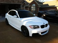 1st whole car dip. Matte white BMW 135i.