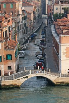 Bridges across the canals of Venice