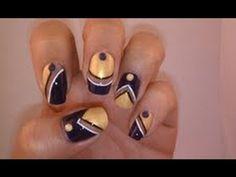 Baltimore Ravens Super Bowl Nails