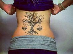 LIBRA Tree of Life tattoo