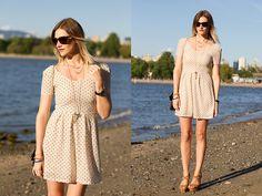 Urban Outfitters Dress, Zara Wedges, Nasty Gal Sunglasses