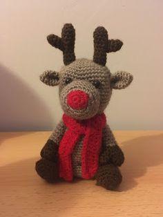 #haken, gratis patroon (Engels), rendier, Kerstmis, knuffel, speelgoed, decoratie, #haakpatroon, #crochet, free pattern, amigurumi, stuffed toy, reindeer, Christmas