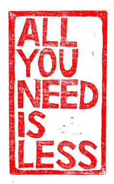 All you need is less.. | Flickr - Photo Sharing!