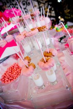 Check out this pink-inspired dessert bar our team at Mediterranean Villa created!