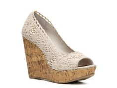Lace wedges - so cute for summer