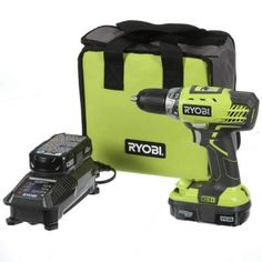 Ryobi ONE+ 18-Volt Lithium-Ion Compact Drill/Driver Kit-P1811 - The Home Depot