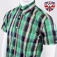 Vintage Button Down Shirt by Warrior Clothing- KEVIN