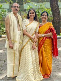 Half Saree Lehenga, Saree Look, Sarees, Saree Jackets, Mehendi Outfits, Kerala Saree, Elegant Saree, Indian Fashion Dresses, Indian Wedding Outfits