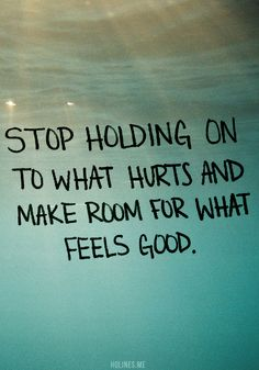 Stop holding on