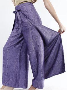 Purple Womens Palazzo Pants Plus size Pants Wide Legged by PaiBoho, $15.50