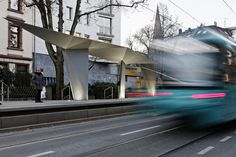 Completed in 2016 in Frankfurt, Germany. Images by Kirsten Bucher. The heavily used local train service between Frankfurt city center and the district of Preungesheim is being upgraded to provide barrier-free access. Sips Panels, Bus Shelters, Train Service, U Bahn, Wolverhampton, Urban Furniture, Bus Stop, Master Plan, Urban Planning