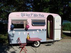 restaurer une caravane pour se faire un atelier, super idée !